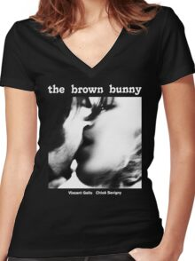 THE BROWN BUNNY -VINCENT GALLO- Women's Fitted V-Neck T-Shirt