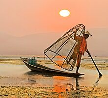 Cone Fisherman. by bulljup