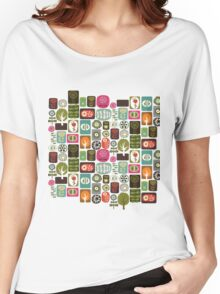 Plant Pattern Women's Relaxed Fit T-Shirt