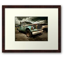 Abandoned Studebaker Champ Pickup Framed Print
