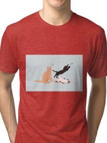 Playing cats Tri-blend T-Shirt