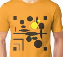 Rings and stripes, black and yellow Unisex T-Shirt