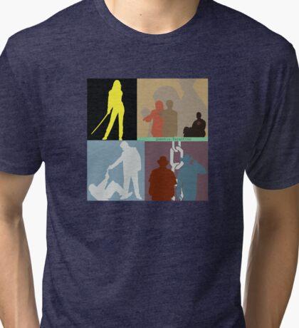 Quentin Tarantino Movie Collage Tri-blend T-Shirt
