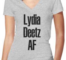 Lydia Deetz Af Women's Fitted V-Neck T-Shirt