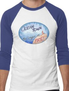 Welcome to Ocean Town! Men's Baseball ¾ T-Shirt