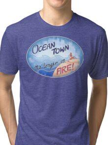 Welcome to Ocean Town! Tri-blend T-Shirt
