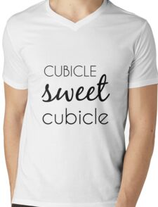 Cubicle Sweet Cubicle Mens V-Neck T-Shirt