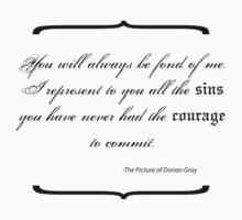 Dorian Gray - Sins Quote Kids Tee