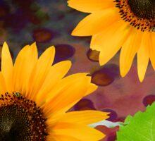 decorative sunflowers Sticker