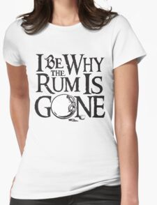 Why The Rum Is Gone Womens Fitted T-Shirt