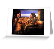 Oedipus and the Sphinx Greeting Card