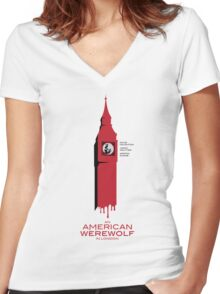 """""""An American Werewolf In London"""" Women's Fitted V-Neck T-Shirt"""