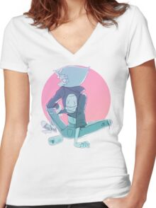 last one out of beach city Women's Fitted V-Neck T-Shirt