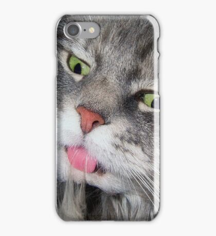 Crazy Eyes Cat iPhone Case/Skin