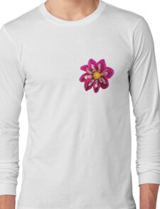 Pink Floral Flower Long Sleeve T-Shirt