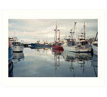 Winter—Victoria Dock, Hobart Art Print