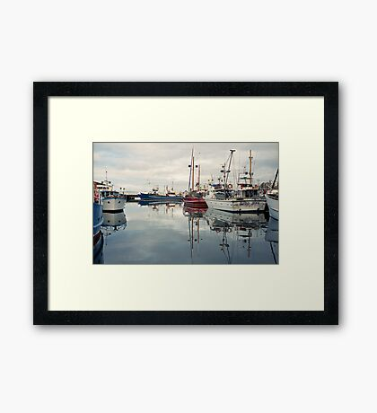 Winter—Victoria Dock, Hobart Framed Print
