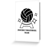 Psychic Volleyball Team Greeting Card