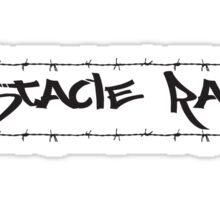 Barbed Wire Obstacle Racer Sticker