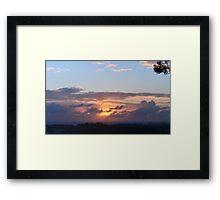 Buderim Sunrise September 9 Framed Print