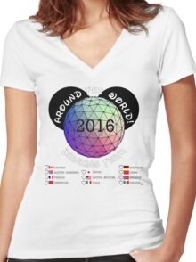 Drink Around the World Drinking Team 2016 Women's Fitted V-Neck T-Shirt