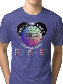 Drink Around the World Drinking Team 2016 Tri-blend T-Shirt