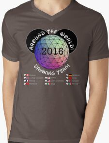 Drink Around the World Drinking Team 2016 Mens V-Neck T-Shirt