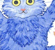 Blue Cat 'Far Out' Sticker