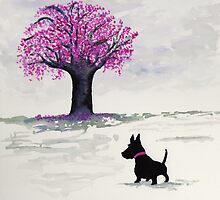 Scottie Dog 'Cherry Blossom' by archyscottie