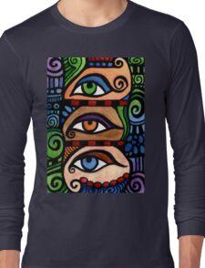 3 Colored Eyes Long Sleeve T-Shirt