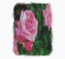 Pink Roses in Anzures 1 Sketchy One Piece - Long Sleeve