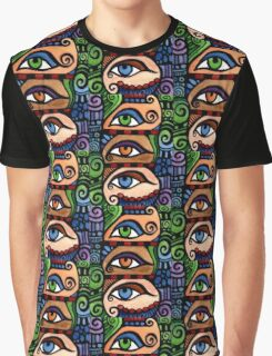 3 Colored Eyes Graphic T-Shirt