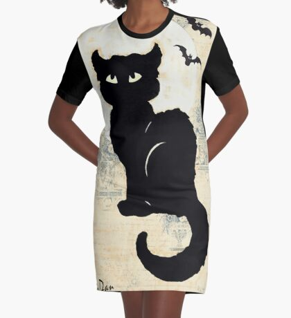 Stray Cat Blues Graphic T-Shirt Dress