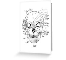 Labeled Skull Greeting Card