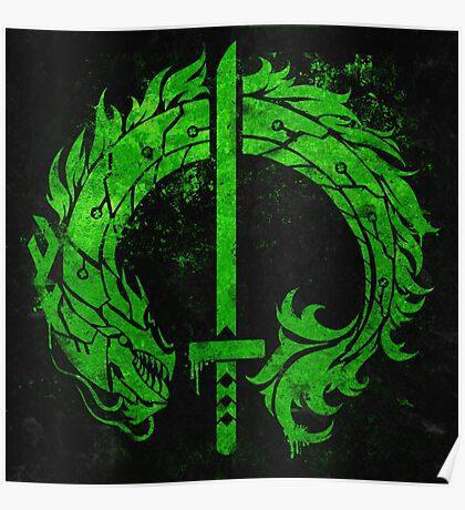 Genji Green Dragon Tag Poster