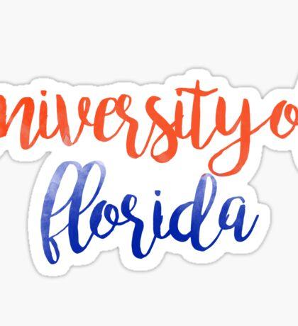 University of Florida Watercolor Sticker