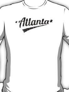 Distressed Retro Atlanta Logo T-Shirt