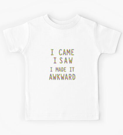 Socially Awkward  Kids Tee