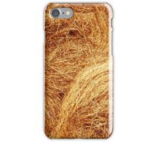 Hay bales texture. Agriculture background  iPhone Case/Skin