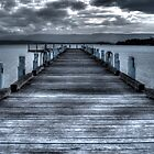 Pier on Lake illawarra by rom01