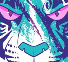 Vaporwave Tiger Sticker