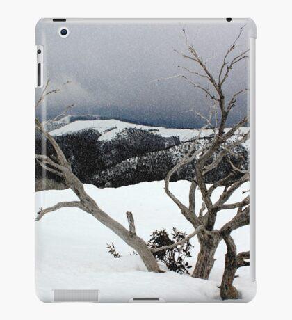 A snowstorm on a mountainside in Australia iPad Case/Skin