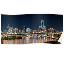 Story Bridge in City of Brisbane Poster