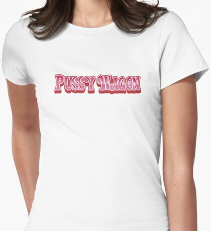 Pussy Wagon - Gradient Variant Womens Fitted T-Shirt