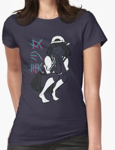 girl- [update w/ bandaid] Womens Fitted T-Shirt