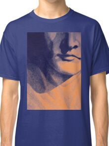 Detail drawing of man face Classic T-Shirt