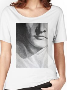 Detail drawing of man face Women's Relaxed Fit T-Shirt