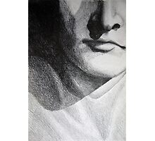Detail drawing of man face Photographic Print