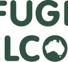 Refugees Welcome Australia (Green) Sticker