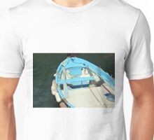 Boat in the water in Vernazza Unisex T-Shirt